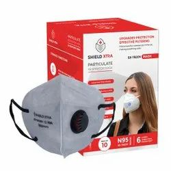 SX-7820V: Shield Xtra N95 Mask with Ear Loops and Valve