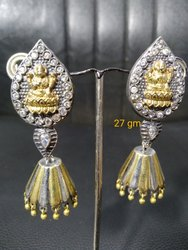 Dual Tone Traditional Gajakala  Earring