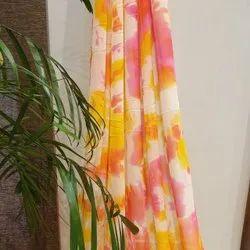 44-45 Multicolor Lavanya Georgette Printed Fabric, Model Name/Number: LAV-G4