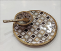 Mango Wood Kids Tray With Bowl And Spoon