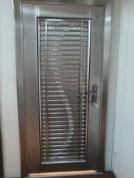 Stainless Steel Security Door, For Residential, Size: 8 X 4 Ft