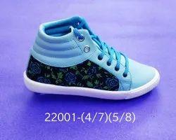 Women Blue Girls High Neck Shoes - 22001