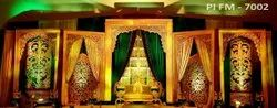 Golden Stylish Wedding Stage