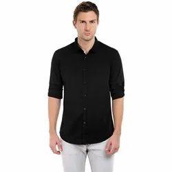Value Box Collar Neck Men''S Solid Shirt
