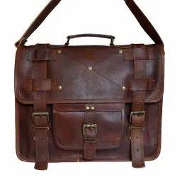 Handmade Classic Leather Messenger Bag For Men