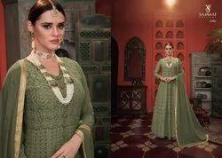 Embroidered Gown Meraki Vol-3 By Sajawat Creation Catalog Wholesale Dealer, Size: L Xl Xxl