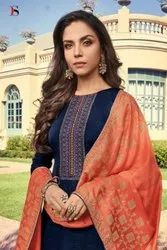 Deepsy Monalisa Silk Straight Salwar Suits Catalog Collection