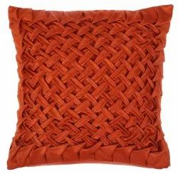 Bright Orange Handcrafted Cushion Cover