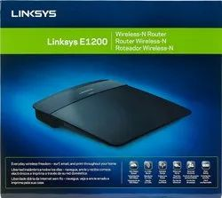 Wired Linksys E1200 Up to 300Mbps Wi-Fi Router, Black