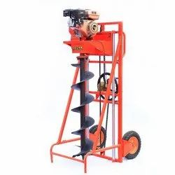 6 HP Earth Auger WITH TROLLY