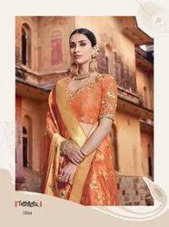 Tathastu 3501-3509 Series Silky Festival Wear Ethnical Saree Catalog