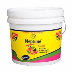 Neptune Liquid Acrylic Distemper Paint, For Wall, Packaging Type: Bucket