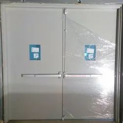 GI Powder Coated White Acoustic Double Door, For Hospital, Thickness: 46 Mm