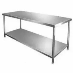 Polished Office Stainless Steel Table