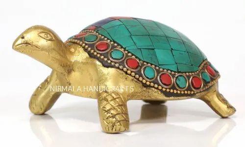 Brass Tortoise Statue Stone Work