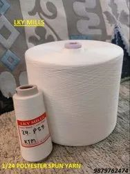 Polyester Yarn 1/24 Psy Wt 24/1 Or 24