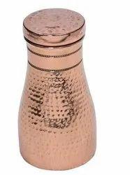 Gold Hammered copper sugar pot home jar, Size: 9in, Capacity: 1liter