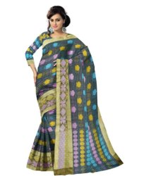 Ladies Printed Party Wear Cotton Saree, With blouse piece, 6.5 m
