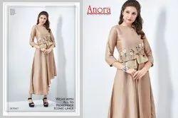 Dora Silk Fancy Wear Anora Fashion Embroidered Kurti For Women, Size: M to XXL