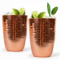 Copper Hammered Tumbler Cup