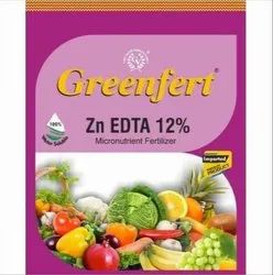 Crystalline Powder Zn EDTA 12% Micronutrient Fertilizer, For Agriculture, Packaging Size: 1 Kg