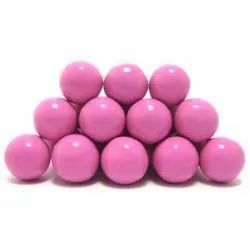 Pink Round Strawberry Chocolate Dragees