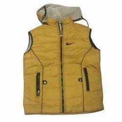 Stand Collar Polyester Boys Sleeveless Jacket