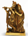 1070 Gm Brass Statue Radha Kishan Ji
