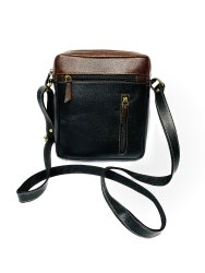 Black Unisex Leather Sling Bag, Size: 31*21cm (l*b)