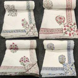 Handblock Pritned Cotton Quilt