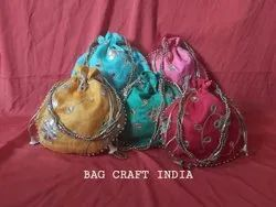 Gota Embroidery Potli Bag