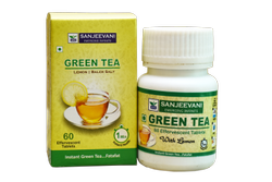 Green tea effervescent tablet, Packaging Type: Bottle