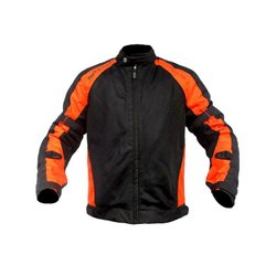 Heavy Duty Micro Mesh Men Orange and Black MOTOTECH Scrambler AIR Motorcycle Jacket