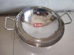 VATIKA Mirror STAINLESS STEEL 3MM KADHAI, For Cook