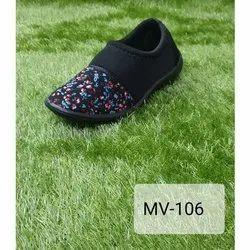 ZXR Women Ladies Winter Wear Fabric Slip On Shoes