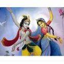 2d Stickers Modern Dancing Radha Krishna Wall Sticker, Size/dimension: 12 X 18 Inches