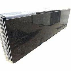 Rajasthan Black Granite Slab, Thickness: 15 mm