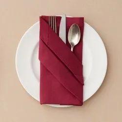 Cotton Plain Hotel Table Cloth Napkins, Size: 0.50 Metre