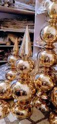 Mandir Kalash Shikhar Pure Brass Shining Finish, For Temple