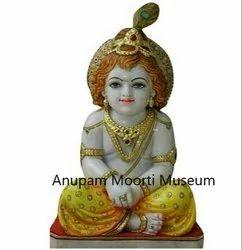 White Marble Bal Krishna Statue  moorti