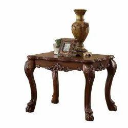 Malik Furniture Brown Wooden Designer Table