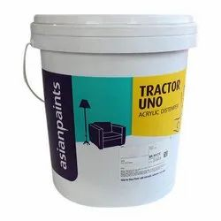 Asian Paints High Gloss Tractor Uno Acrylic Distemper, For Wall, Packaging Type: Bucket