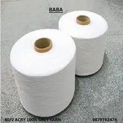 40/2 Acrylic 100% Grey Yarn- Brand : Baba