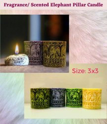 Elephant Scented Pillar Candle