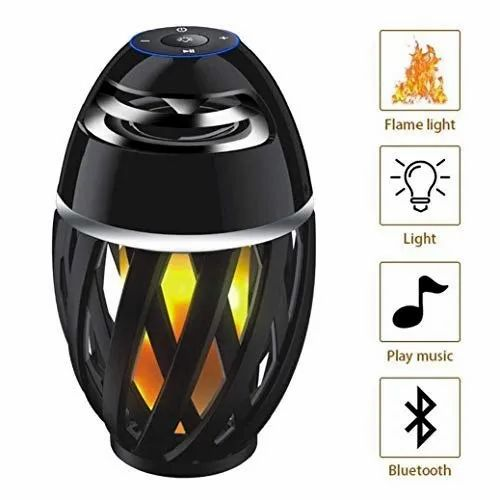 Red Led Flame Lamp Bluetooth Speaker, Led Flame Lamp Bluetooth Speaker