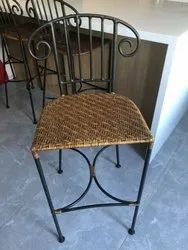 Iron Chair With Cane Sitting