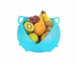 Primelife Plastic Vegetable Fruit Rinse Bowl & Strainer Cum Basket 10 Inch