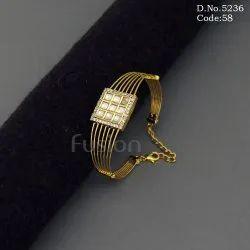 Kundan Openable Bracelet Kada