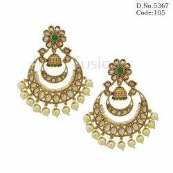 American Diamond Traditional Chandbali Earrings