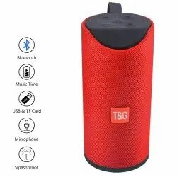SYL Plastic TG113 Explode Super Bass TG 113 High Volume Bluetooth Speakers (Red)